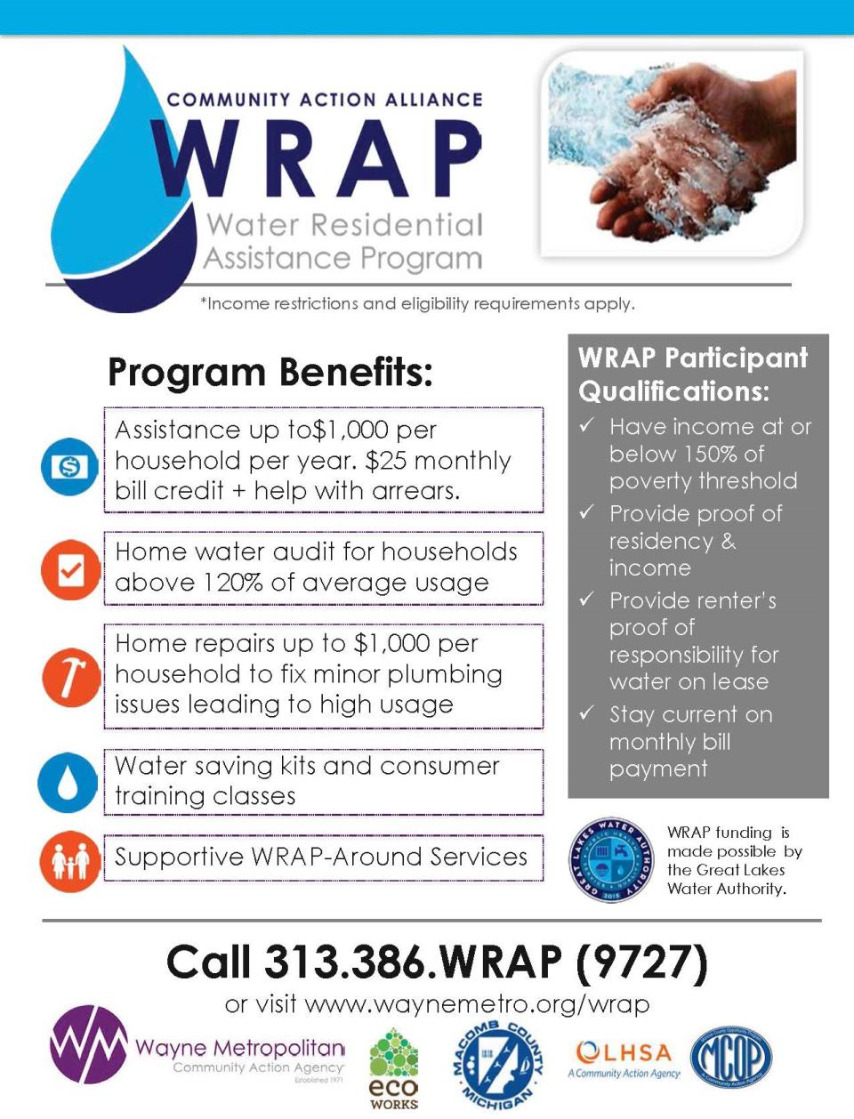 Water Residential Assistance Program Flier