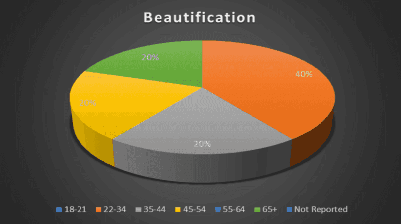 Beautification Age Breakdown